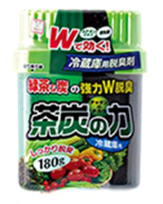 Японский поглотитель запахов для холодильника Сила угля и зеленого чая Kokubo