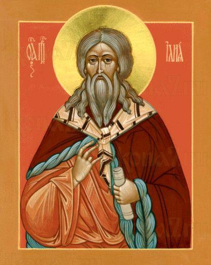 Илия Пророк (рукописная икона)