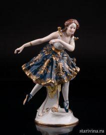 Танцующая девушка в синем платье, Volkstedt, Германия, кон.19 - нач.20 вв