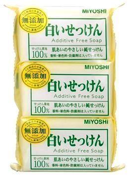 Натуральное туалетное мыло Additive Free Family Soap Bar  Miyoshi