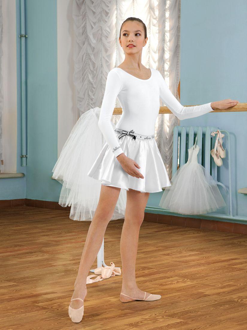 Белая юбка для девочки 6-7 лет