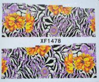 Водная наклейка для дизайна ногтей XF 1478