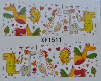 Водная наклейка для дизайна ногтей XF 1511