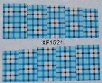 Водная наклейка для дизайна ногтей XF 1521