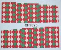 Водная наклейка для дизайна ногтей XF 1525