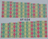 Водная наклейка для дизайна ногтей XF 1534