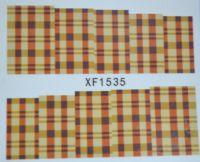 Водная наклейка для дизайна ногтей XF 1535