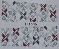 Водная наклейка для дизайна ногтей XF 1536