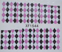 Водная наклейка для дизайна ногтей XF 1544