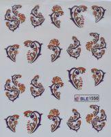Водная наклейка для дизайна ногтей BLE 1550