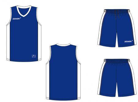 Баскетбольная форма Seven blue