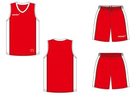 Баскетбольная форма Seven red