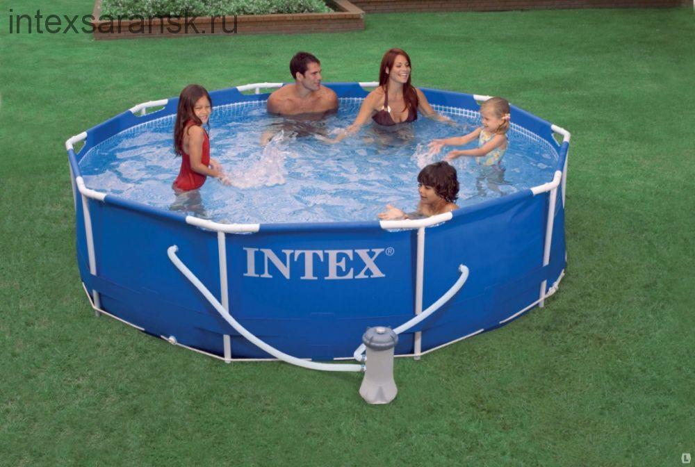 Бассейн каркасный Intex Metal Frame Pool  305х76см + насос-фильтр (28202)