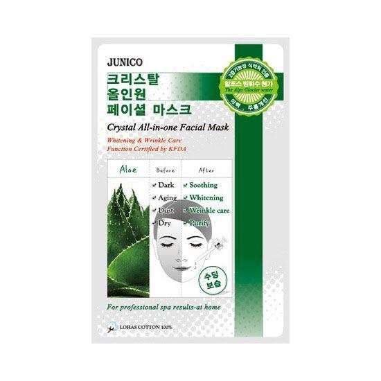 Корейская маска тканевая Junico Crystal All-in-one Facial Mask
