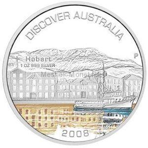 1 доллар 2008 года Австралия. Открой для себя Австралию. Хобарт