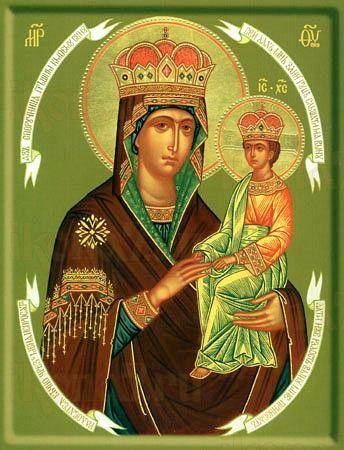 Споручница грешных икона Божией Матери (рукописная)