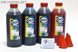 Чернила OCP для принтера и МФУ Canon iP2840, MG2440, MG2540 (BKP44, C136, M136, Y136), картриджи PG-445, CL-446 комплект 1000 гр. x 4