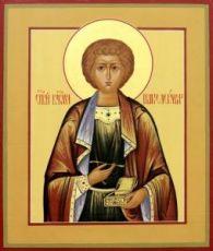 Икона Пантелеймон Целитель (рукописная)