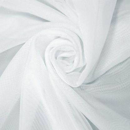 Вуаль однотонная с утяжелителем белая