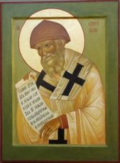 Икона Спиридон Тримифунтский (рукописная)