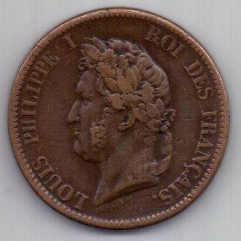 5 центов 1839 г. Французкие колонии в Америке