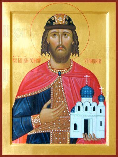 Роман Угличский (рукописная икона)