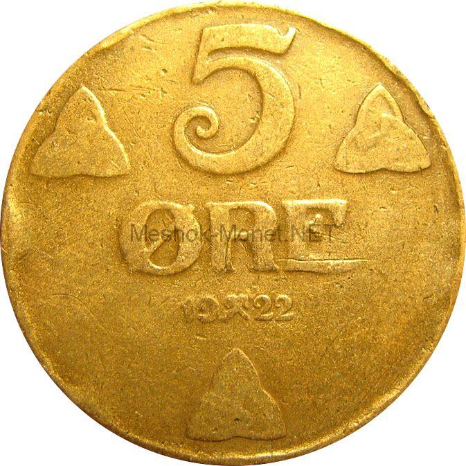 Норвегия 5 эре 1939 г.