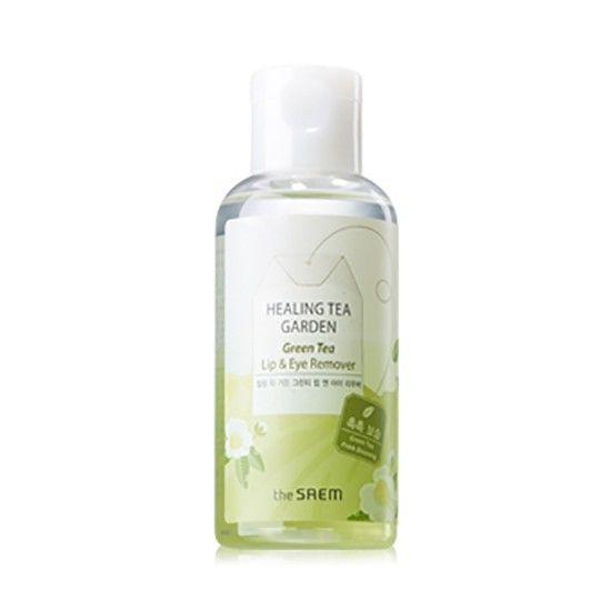 Корейское средство для снятия макияжа с глаз и губ Healing Tea Garden Green Tea Lip & Eye Remover Saem