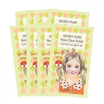 Корейский набор пластырей против акне Secret Pure Nose Clear Patch Set(8pcs) Saem