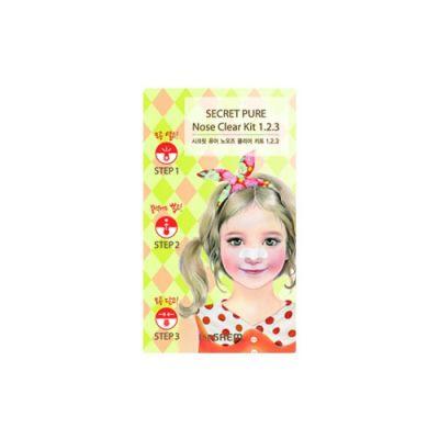 Корейский пластырь для удаления угрей Secret Pure Nose Clear Kit  1•2•3 Saem