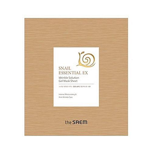 Корейская маска для лица антивозрастная Snail Essential EX Wrinkle Solution Gel Mask Sheet Saem