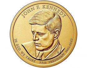35 президент США Джон Ф.Кеннеди  1 доллар США 2015 монетный двор  на выбор