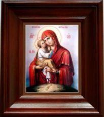 Почаевская икона БМ (21х24), простой киот