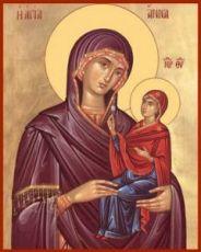 Икона Анна праведная, мать Богородицы (рукописная)