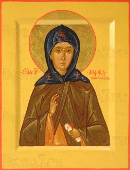 Икона Анфиса Мантинейская (рукописная)