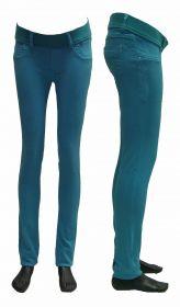 Брюки джинсовые для беременных Турция, изумруд