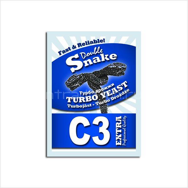 Турбо дрожжи DoubleSnake C3 Extra, для самогона и спирта-ректификата, на 25 л (Великобритания)