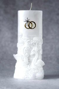 Свеча Очаг №3 (белый)