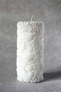 Свеча декоративная №1 (белый)