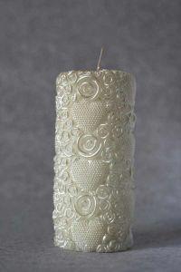 Свеча декоративная №1 (бежевый)