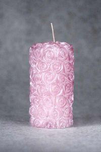 Свеча «Свадебная средняя №1» (розовый)
