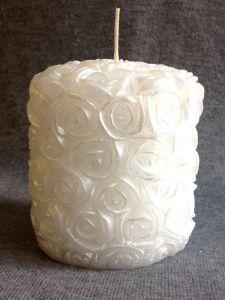 Свеча «Свадебная средняя №2» (белый)