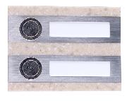Zamel Кнопка звонка 2-я декоративная прямоугольная PDK-250/2