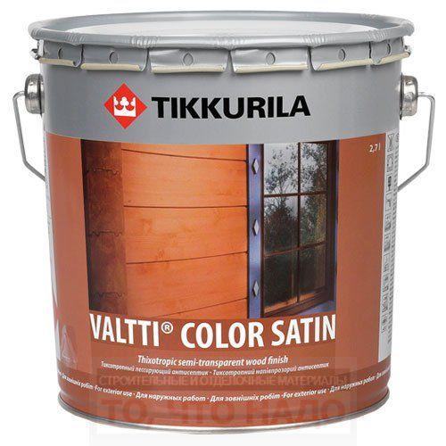 Фасадный антисептик Tikkurila Valtti Color Satin
