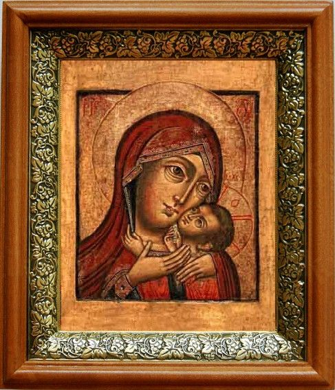 Касперовская икона БМ (19х22), светлый киот