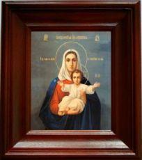 Леушинская икона Божьей Матери (21х24), простой киот