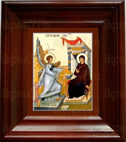 Благовещение Пресвятой Богородицы (21х24), простой киот