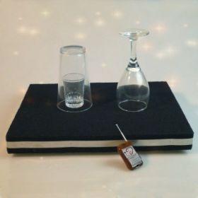 Монета в стакане и бой стакана - комбинация трюков