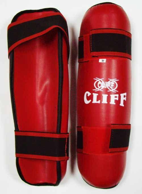 Защита голени CLIFF, (материал DX) красная, размер S