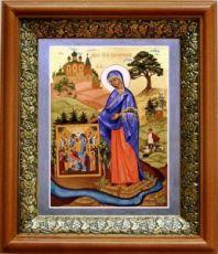 Пюхтицкая икона БМ (19х22), светлый киот